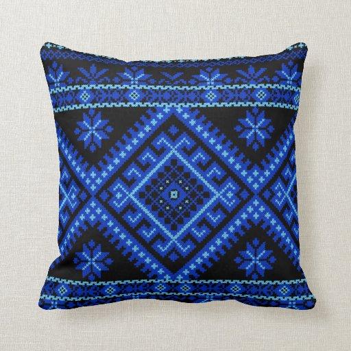 Pillow Large Ukrainian Cross Stitch Print Zazzle