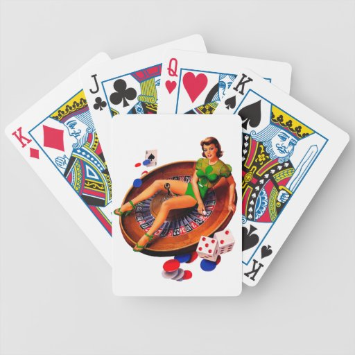 Pin Up Casino Girl Las Vegas Playing Cards | Zazzle