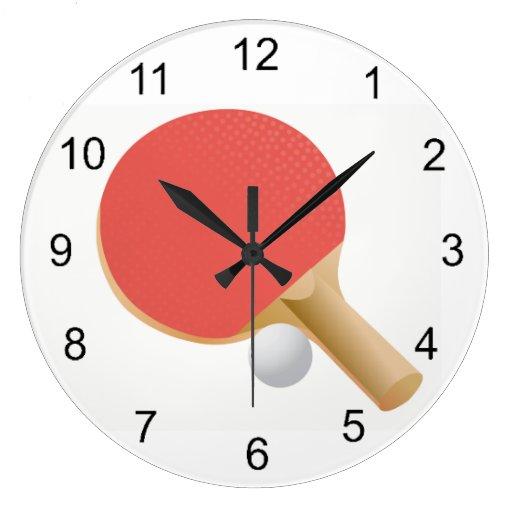 Ping Pong Table Tennis Design Wall Clock Zazzle