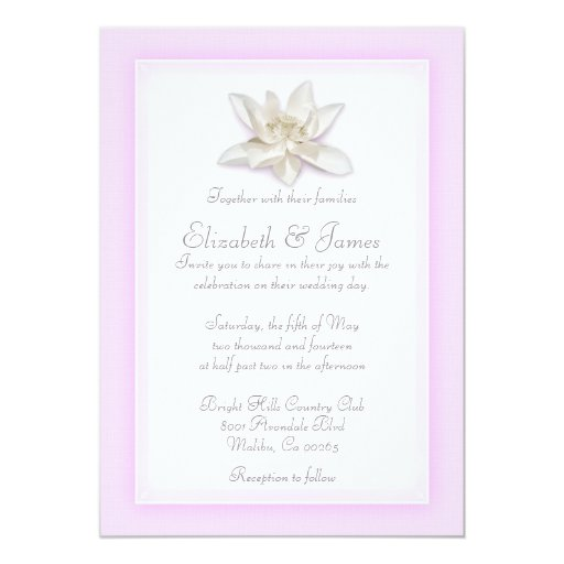 Pink And White Wedding Invitations | ZazzleRed And White Wedding Invitations