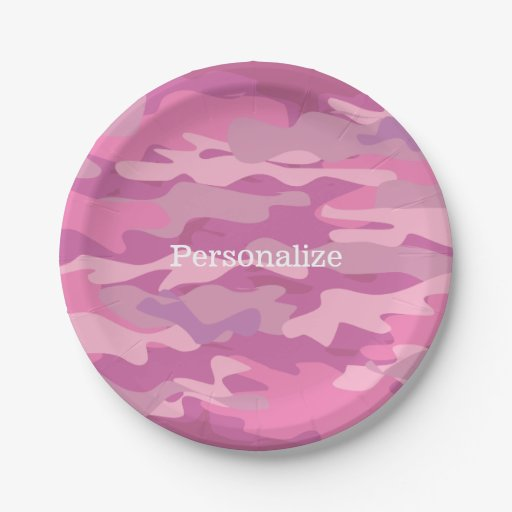 Camouflage Paper Plates (8)