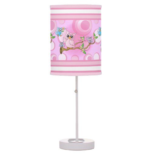 Pink Baby Owl Nursery Theme For Baby Table Lamp Zazzle