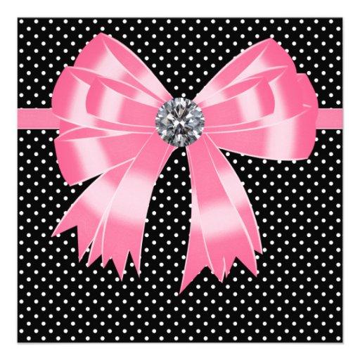black white polka dot invitation template 28 images pink black