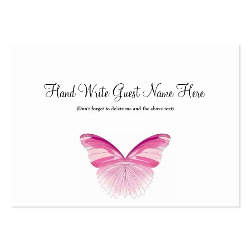 Pink Erfly Place Cards Business