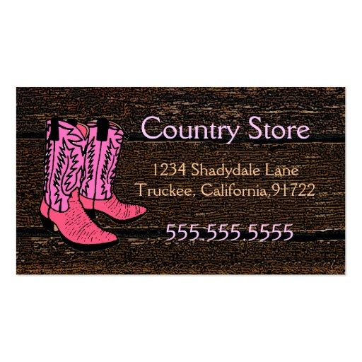 f9ce770c3e8 Cowboy boot Business Card Templates | BizCardStudio