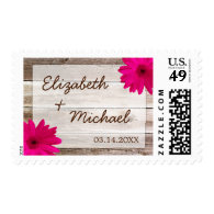 Gerbera Daisy Stamps   Customizable Wedding Stamps - Unique