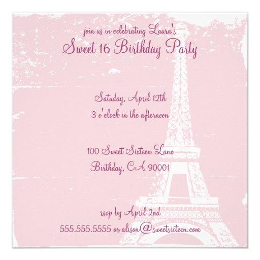 Personalized Paris France Invitations