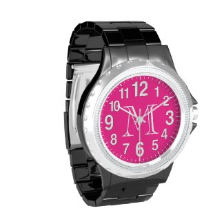 Pink Face Watches for Women with Large Numbers