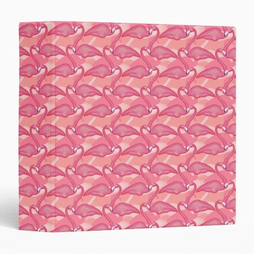 Pink Flamingo Notebook 3 Ring Binder