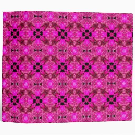 Pink Geometric 3 Ring Binder