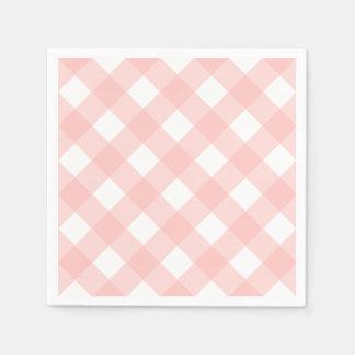 Checkered Napkins Paper