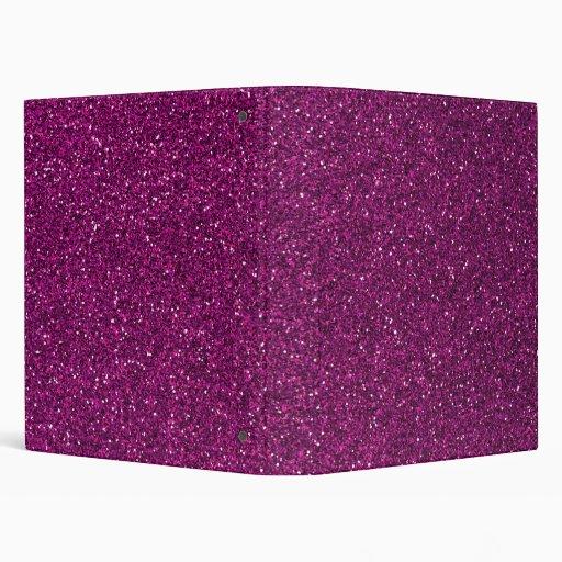 Pink Glitter 3 Ring Binder