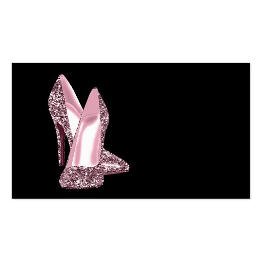 Pink glitter high heel shoe business card template zazzle for High heel template for cards