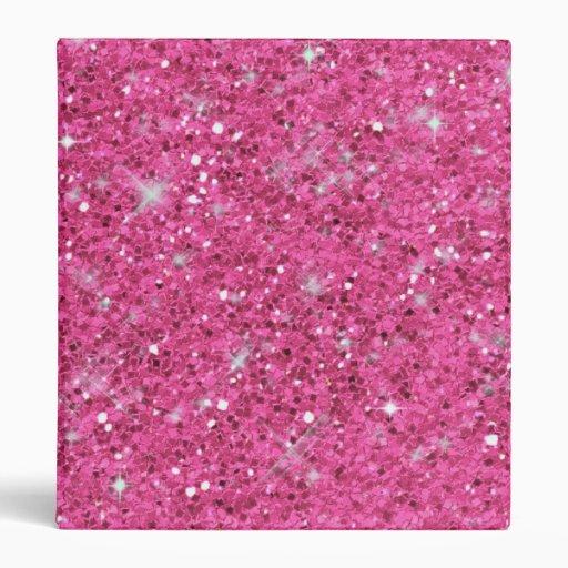 Pink Glitter Pattern ID144 3 Ring Binder