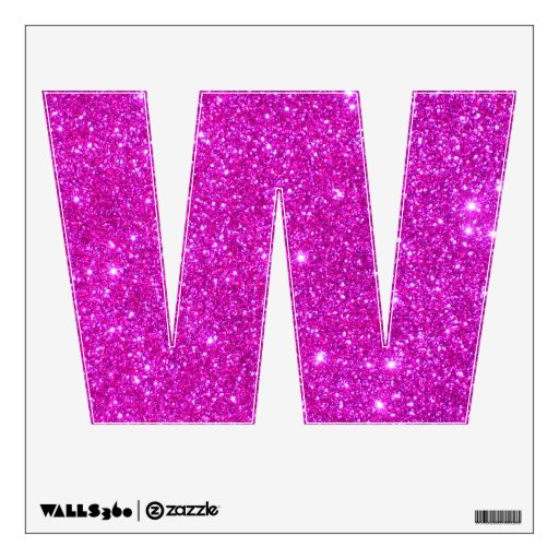 Pink Glitter Sparkle Children Letter Alphabet ABCs Wall ...