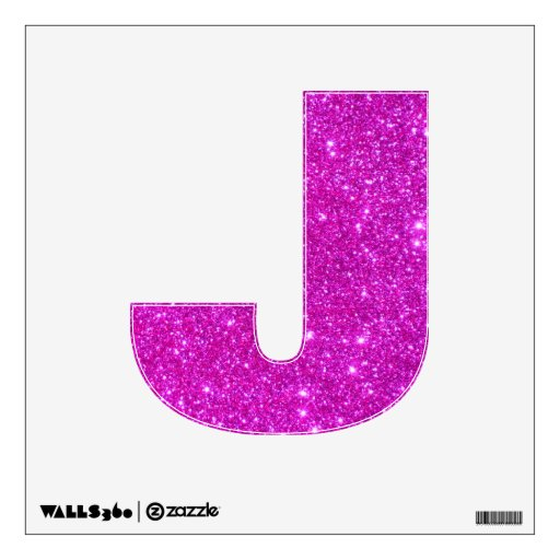 Pink Glitter Sparkle Wall Decal Letter Abcs | Zazzle
