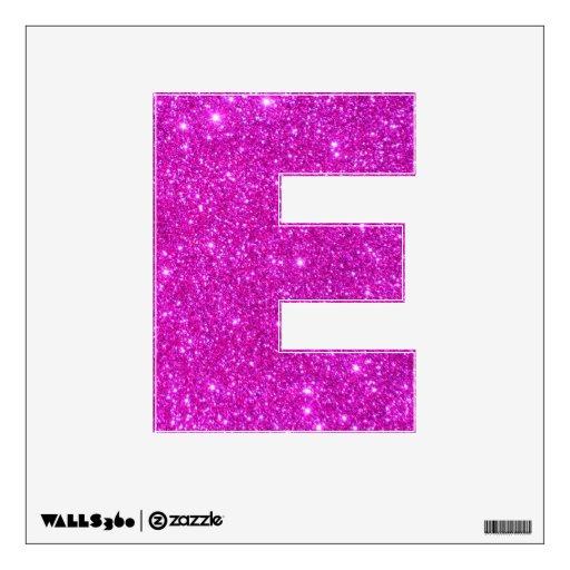 Pink Glitter Sparkle Wall Decal Letters Glittery E | Zazzle