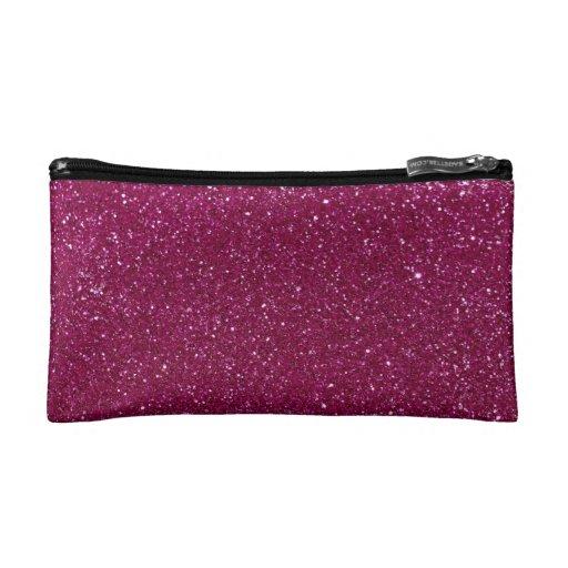 Pink Glitter Sparkles Makeup Bag | Zazzle