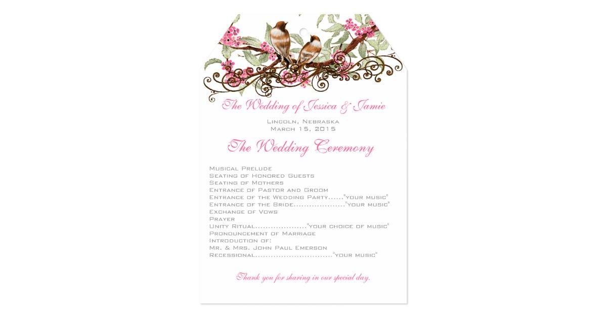 Love Birds Wedding Invitations: Pink & Gray Vintage Love Birds Wedding Invitation