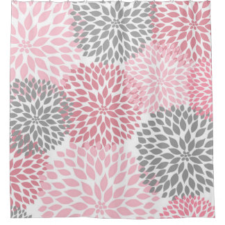 pink grey shower curtain. Pink And Grey Shower Curtains Zazzle Curtain  Home Decor Laux Us