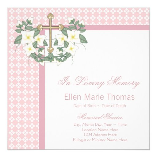 Top in loving memory powerpoint templates images for for Memory cross template