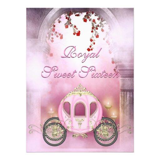 Cinderella Carriage Sweet 16 Invitations
