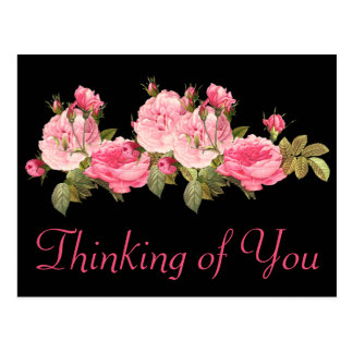 Thinking Of You Rose Postcards & Postcard Template Designs ...
