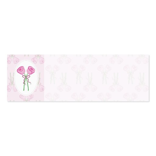 double sided place card template - pink roses wedding place name cards double sided mini