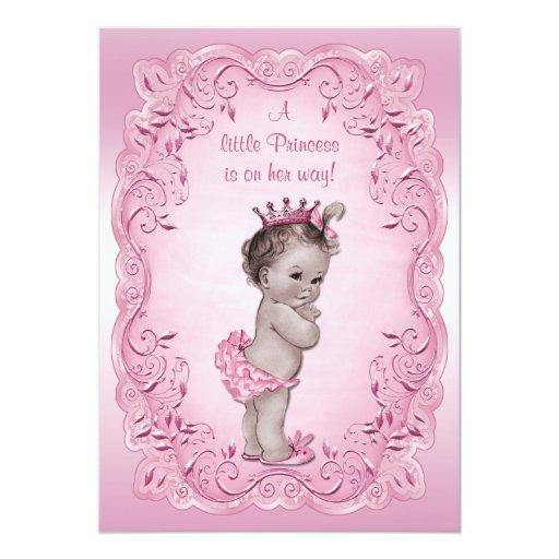 Pink Vintage Princess Baby Shower Invites