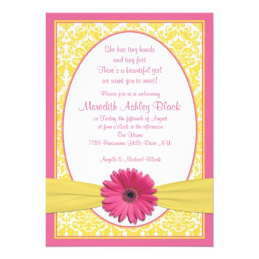 Personalized Sip And See Invitations