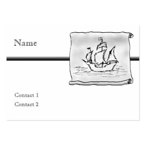 Pirate Ship Business Card Templates