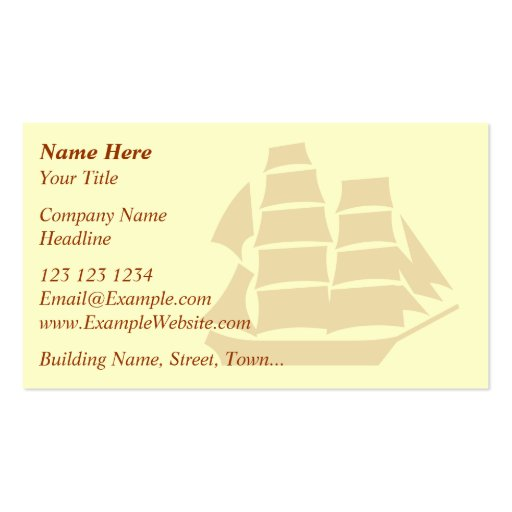 Pirate ship sailing ship double sided standard business for Pirate ship sail template