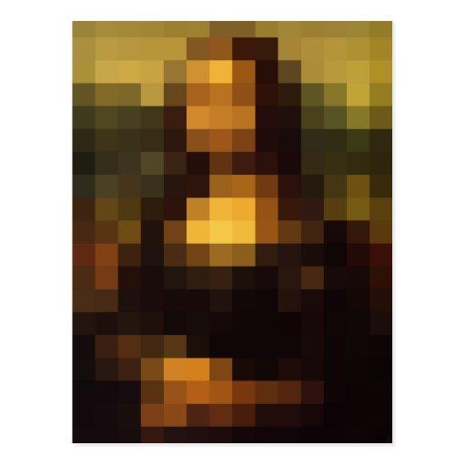 Pixelated Mona Lisa 3 Postcard
