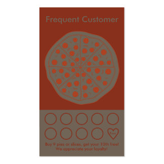 Pizza customer reward business cards templates zazzle for Frequent diner card template