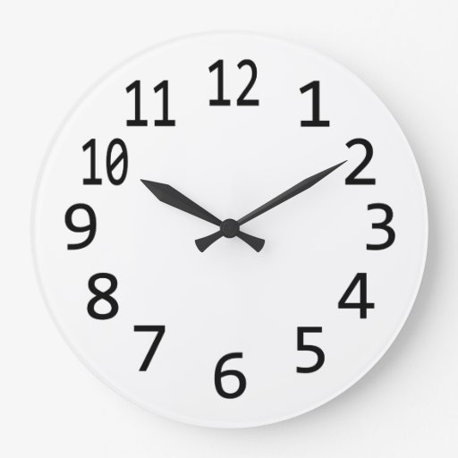 Make Your Own Clock: Plain Blank Numbered Clock To Design Your Own, DIY