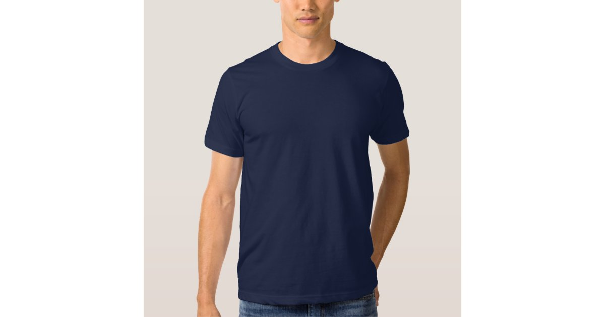 Plain Navy Blue Mens American Apparel T-Shirt | Zazzle