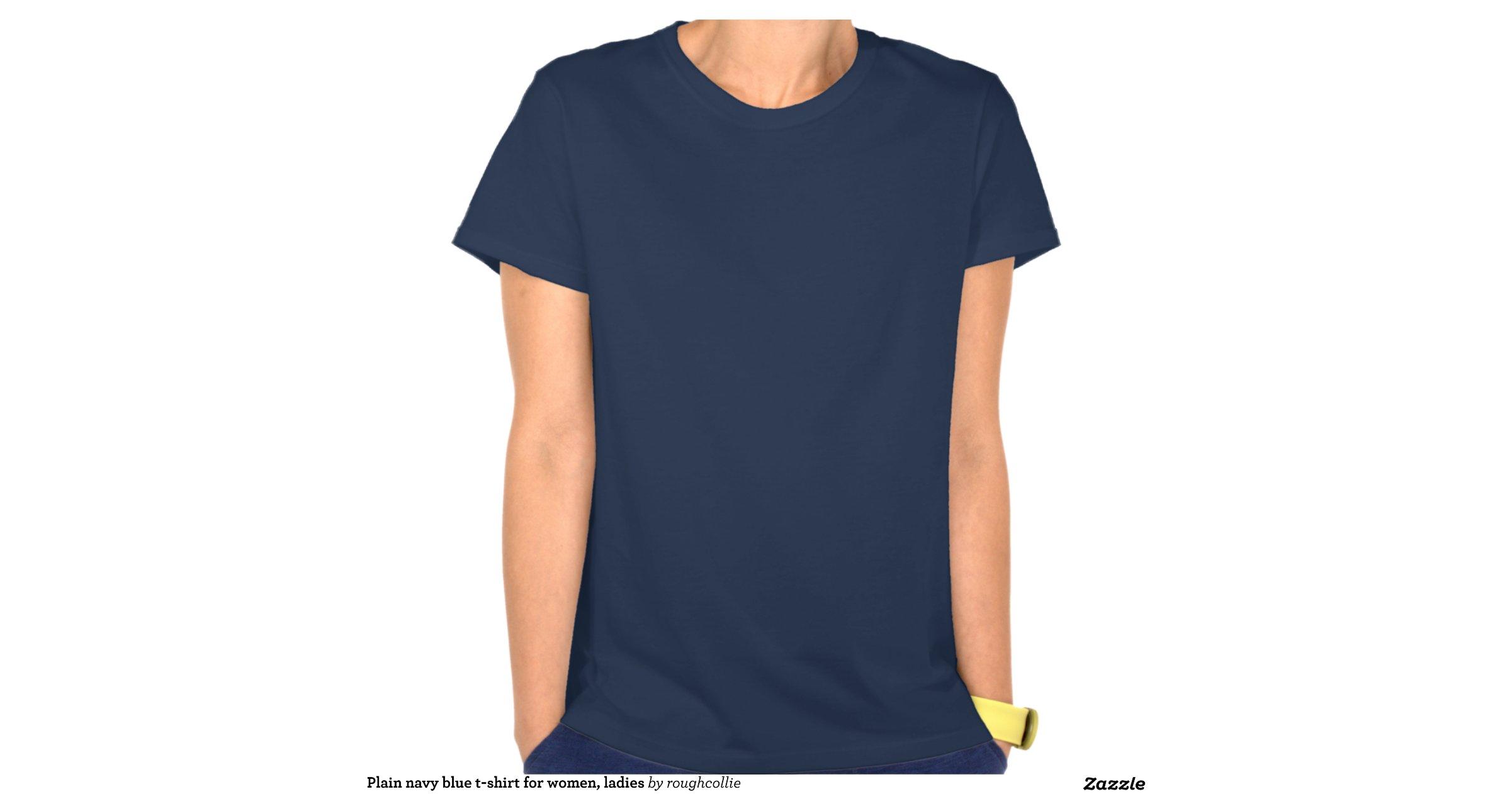 plain_navy_blue_t_shirt_for_women_ladies ...