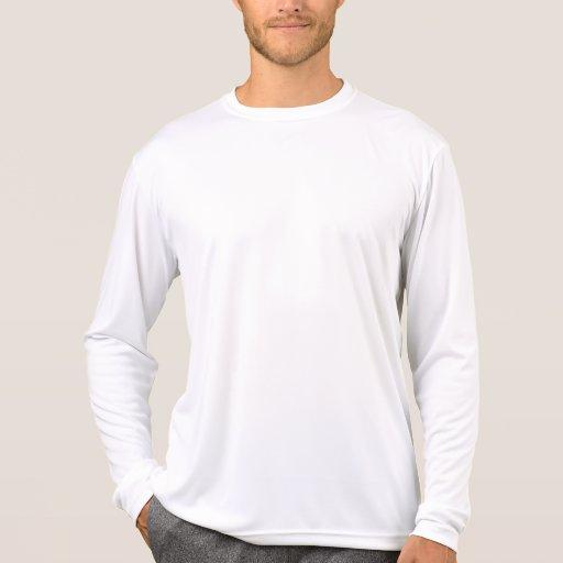 Plain White Mens Performance Long Sleeve T Shirts | Zazzle