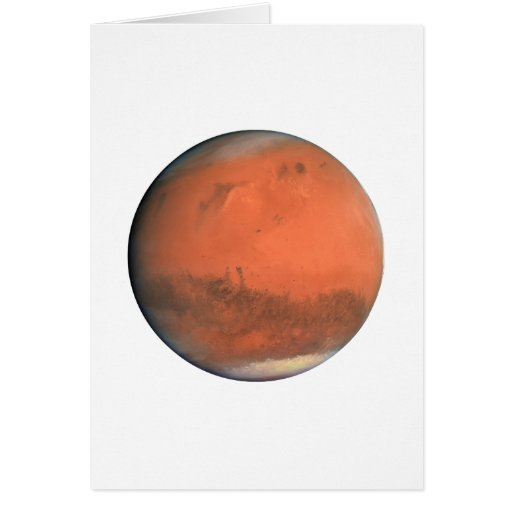 PLANET MARS true color natural (solar system) ~~ Card | Zazzle