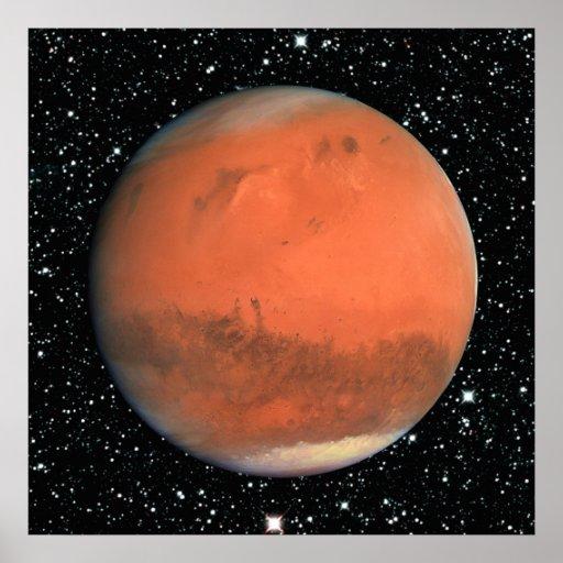 PLANET MARS true color star background ~ Poster | Zazzle