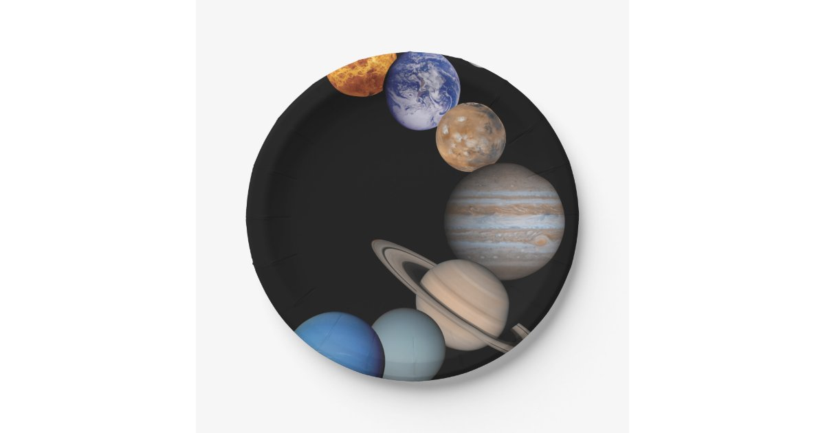Planets of the solar system paper plate | Zazzle