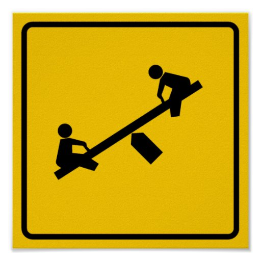Playground Area Highway Sign Poster | Zazzle