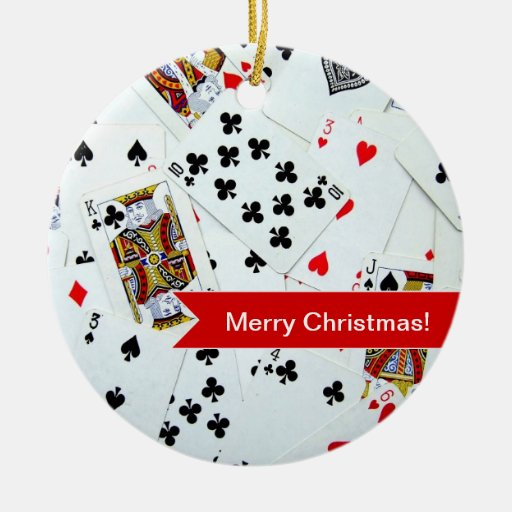 Playing Cards Christmas ornament | Zazzle