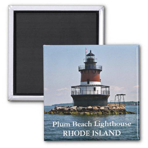 Plum Island Beach: Plum Beach Lighthouse, Rhode Island Magnet