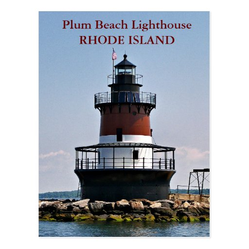 Plum Island Beach: Plum Beach Lighthouse, Rhode Island Postcard