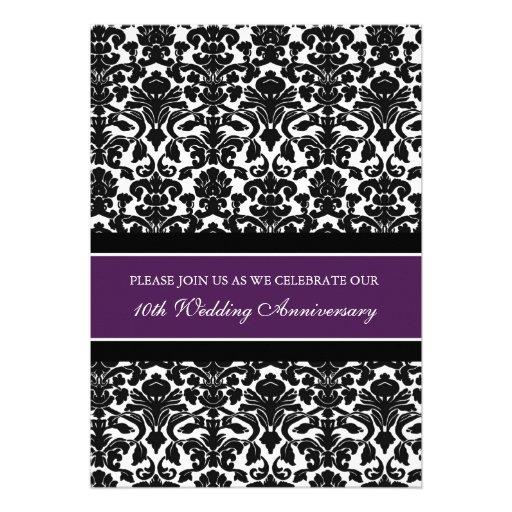 Personalized Tenth Wedding Anniversary Invitations