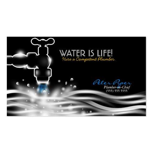 Plumber Plumbing Service Business Card