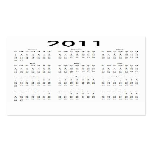 Pocket calendar 2011 template with business card zazzle for Pocket schedule template