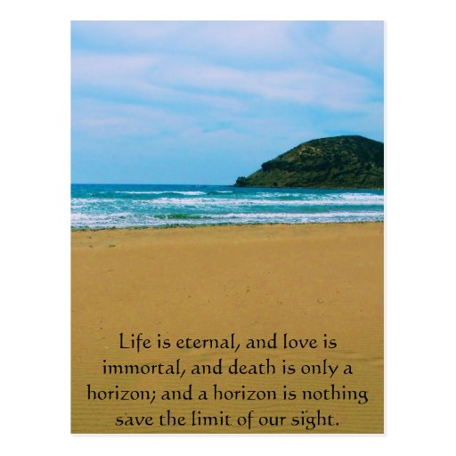 Poem About Death - Inspirational Grieving Quote Postcard ...