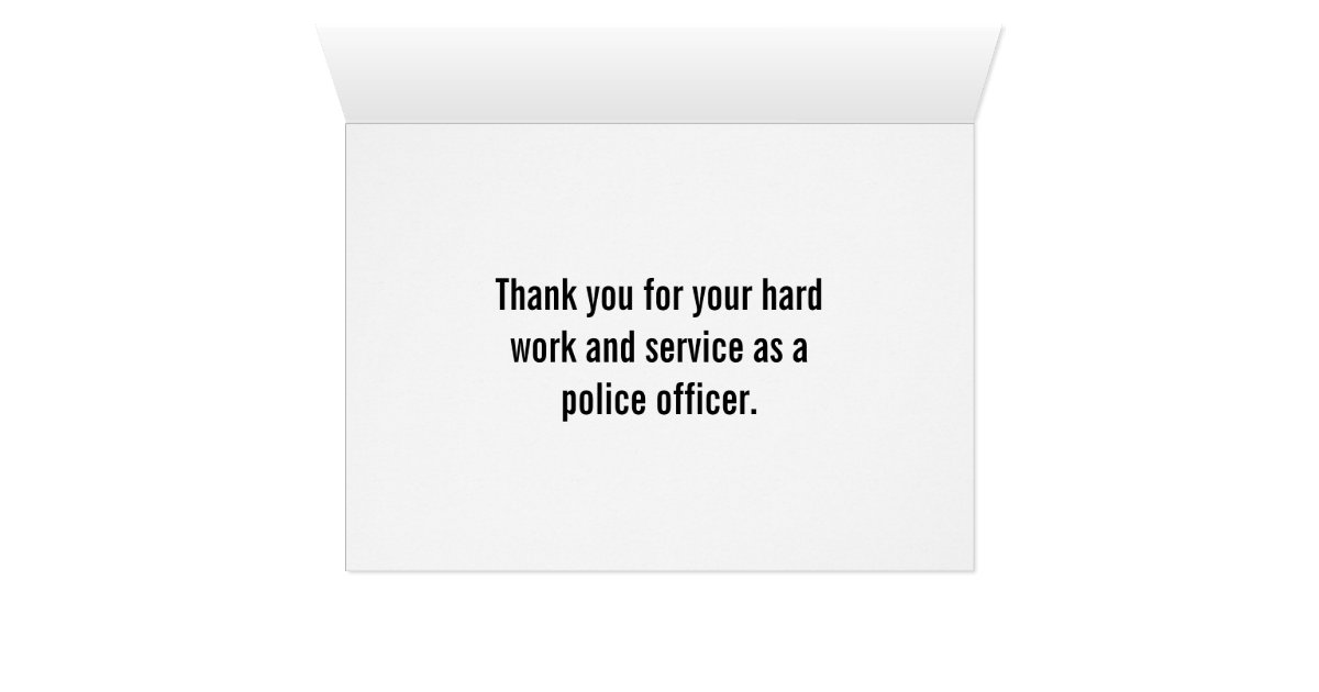 Police Officer Thin Blue Line Thank You Card Zazzle